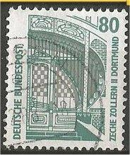 GERMANY, 1987, used 80pf, Definitive. Scott 1528