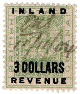 (I.B) British Guiana Revenue : Inland Revenue $3