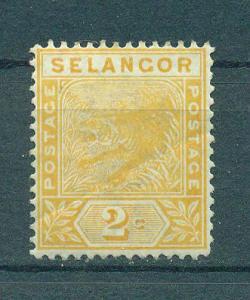 Malaya - Selangor sc# 26 (2) used cat value $1.00
