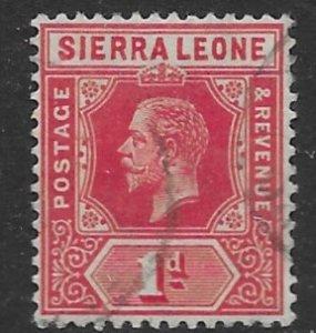 Sierra Leone 104  1912   1 d  used