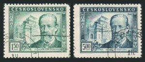 Czechoslovakia 386-387 blocks/4,CTO.Michel 578-579.Bedrich Smetana,composer,1949