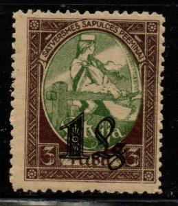 Latvia Sc 134 1927 1 L overprint on 3R Assembly stamp mint NH