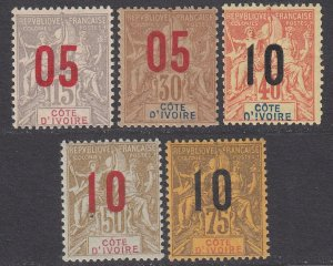 Ivory Coast 37-41 MLH / MH CV $19.40