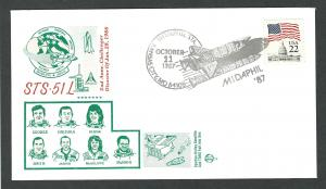 United States  Space  Event Cover   Space Shuttle