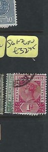 CAYMAN ISLANDS  (P1909B)  QV  1/2D-1D  SG 1-2   VFU