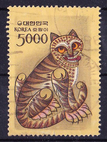 South Korea 1983.  5.000 Won, Tiger