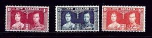 New Zealand 223-25 MNH 1937 KGVI Coronation