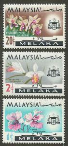 Malaysia Malacca 67-68,73 Mint VF H (67 HR)