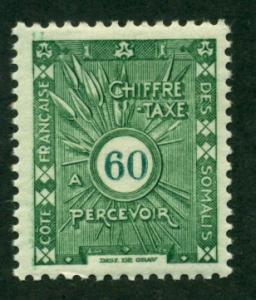 Somali Coast 1938 #J17 MH SCV(2018)=$1.00