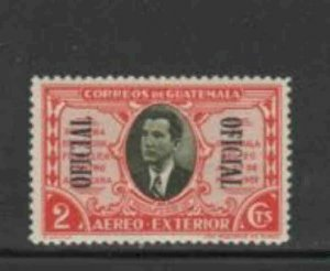 GUATEMALA #CO2 1939 2c OFFICIAL MAIL MINT VF LH O.G