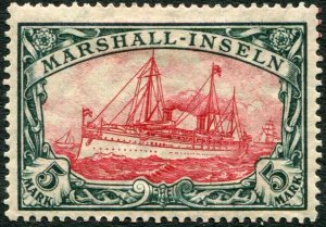 MARSHALL ISLANDS-1916-19 5m Carmine & Black Sg G25 MOUNTED MINT V36442