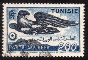 1950, Tunisia 200Fr, Used, Sc C16