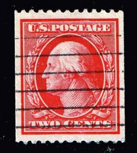 US STAMP # 386 2c carmine 1910 Coil Stamp Used