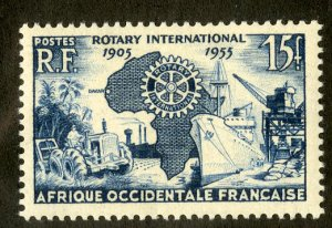 FRENCH WEST AFRICA 64 MNH SCV $2.40 BIN $1.25 ROTARY