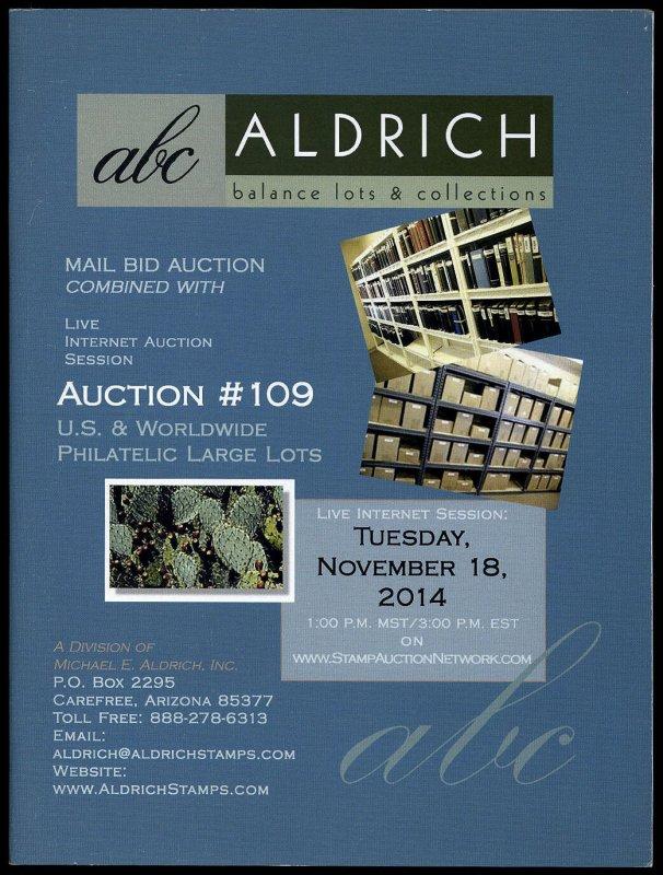 Aldrich catalog: ABC Auctions sale 109 Nov. 18, 2014