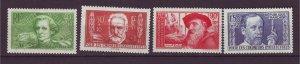 J24644 JLstamps 1936-7 france hv,s of set mh #b50-53 famous people