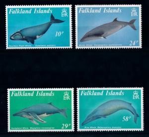 [71979] Falkland Islands 1989 Marine Life Whales  MNH