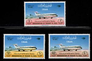 IRAQ Scott C12-C14 MH*  Iraqi Airways set 1965 CV $7.80