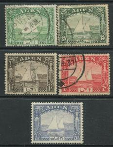 STAMP STATION PERTH Aden #1-4,7 Dhow Issue 1937  MNH/Used  CV$23.00.