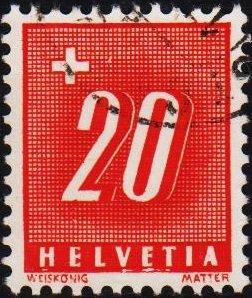 Switzerland. 1938 20c S.G.D387AFine Used