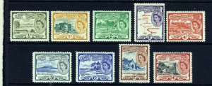ST.CHRISTOPHER NEVIS & ANGUILLA QE II 1954-63  Set to 24c. SG 106a - SG 114 MINT