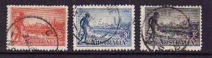 Australia-Sc.#142-4-used Centenary of Victoria set-1934-