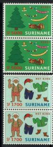 Surinam SC# 1286 and 1287, Pairs, Mint Never Hinged - Lot 052117