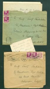 Norway. 2 Ship Covers 1925-26 With Content. Adr. Belgium & USA