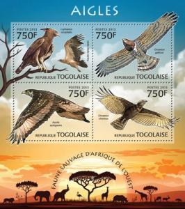 TOGO 2013 SHEET EAGLES BIRDS OF PREY tg13202a