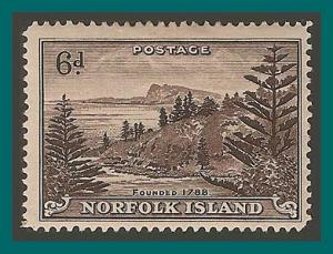 Norfolk Island 1947 Ball Bay, mint  #9,SG9