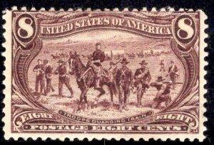 US Stamp Scott #289 UNUSED REGUMMED SCV $140 as hinged