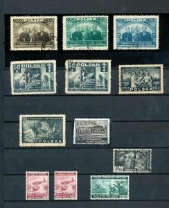 Poland 1940s Used Stock Accumulation (Appx 80 Items) (DD182