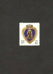 4264 Purple Heart Single Mint/nh FREE SHIPPING