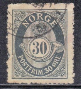 NORWAY SC# 55 *USED* 30o  1907   SEE SCAN