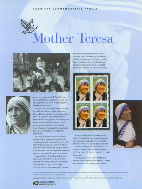 Mother Teresa, set 4
