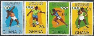 Ghana MNH 583-6 Montreal Olympics 1976