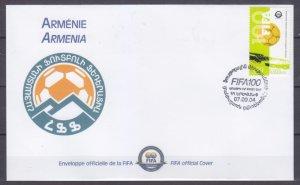 2004 Armenia 494 FDC 100 years Futbool of Organization FIFA 5,00 €