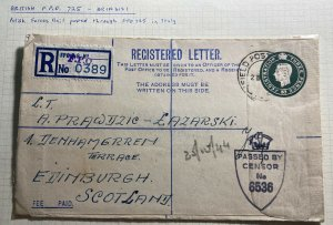 1944 Polish Forces Mail British Liberation Army In Italy Cover To Scotland
