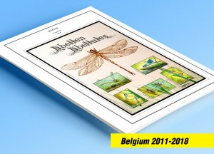 COLOR PRINTED BELGIUM 2011-2018 STAMP ALBUM PAGES (113 illustrated pages)