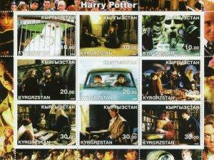 Kyrgyzstan Harry Potter Stamps 2002 MNH Hermione Granger Dumbledore Owls 9v M/S