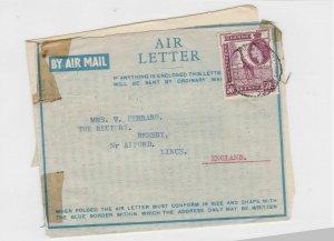 kenya uganda tanganyika air letter stamps cover ref 12894