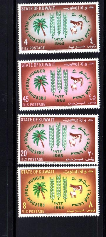 KUWAIT #193-196  1963  FREEDOM FROM HUNGER  MINT VF NH  O.G