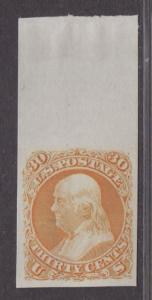 **US SC# 71p3 Unused Plate Proof on India, JUMBO Margin Copy! CV $50.00