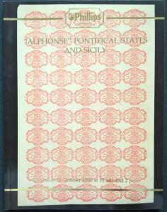 Auction Catalogue ALPHONSE PONTIFICAL STATES & SICILY Italia Sicilia Italy