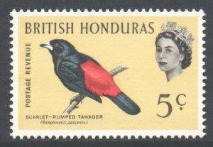 Br Honduras Scott 171 - SG206, 1962 Birds 5c MNH**