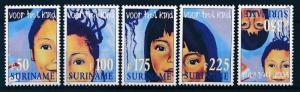 [SU 955] Suriname 1998 Child Welfare, Voor het Kind - Faces  MNH