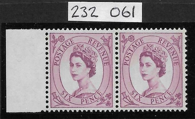Sg S111a &ab 6d Wilding Blue phos on White Typo NB with RPS cert UNMOUNTED MINT