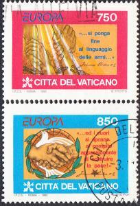 Vatican #971-972 Used Set