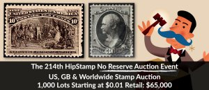 The 214th HipStamp No Reserve Auction Event