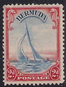 Bermuda 1936 - 47 KGV1 2d Lucie Yacht Umm SG 112a ( E1405 )